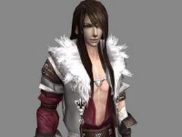 Fantasy handsome man 3d model preview