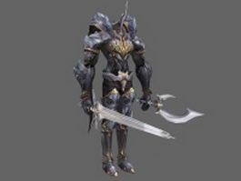 Divine warrior 3d model preview