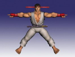 Ryu in Street Fighter 3d model preview