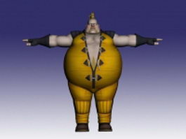 Rufus in Street Fighter 3d model preview