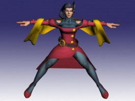Rose in Street Fighter 3d model preview