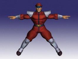 M. Bison in Super Street Fighter 3d model preview