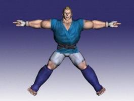 Abel in Street Fighter 3d model preview