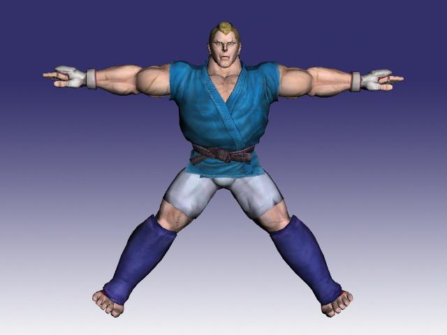 Abel in Street Fighter 3d rendering