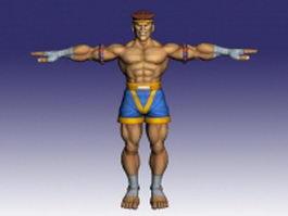 Adon Muay Thai warrior 3d model preview