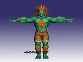 Blanka in Super Street Fighter 3d model preview