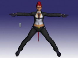 C. Viper Street Fighter character 3d model preview