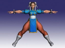 Chun-Li in Street Fighter 3d model preview