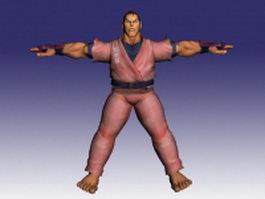 Dan in Street Fighter Alpha 3d model preview