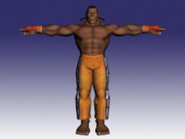 Dee Jay in Super Street Fighter 3d model preview