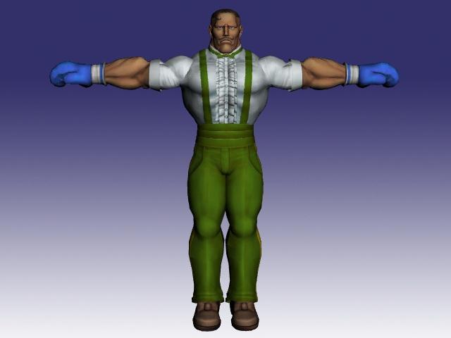 Dudley in Street Fighter 3d rendering