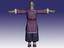 Gen in Street Fighter 3d model preview