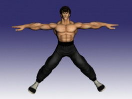 Fei Long in Street Fighter 3d model preview