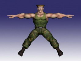 Guile in Super Street Fighter 3d preview