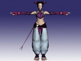 Juri in Street Fighter 3d preview