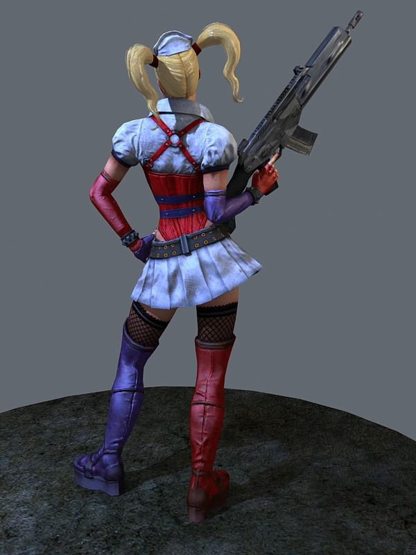 Harley Quinn 3d Model 3ds Max Files Free Download