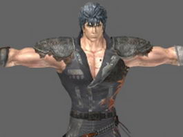Kenshiro in North Star 3d model preview