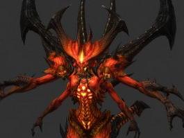 Prime Evil Diablo 3d model preview