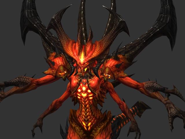 Prime Evil Diablo 3d rendering