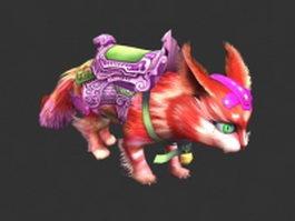Fantasy cat 3d model preview