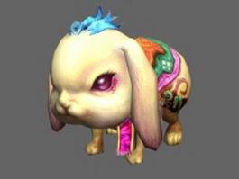 Pet rabbit 3d model preview