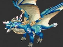 Blue dragon 3d model preview