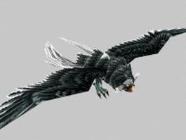 Flying hawk 3d model preview