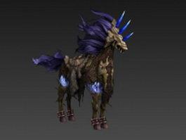 Skeletal horse 3d model preview