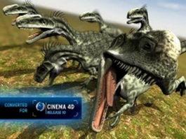 Monolophosaurus dinosaur 3d model preview