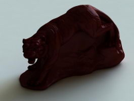 Chinese tiger statue 3d preview