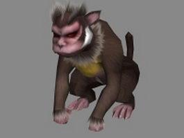 Monkey monster 3d model preview
