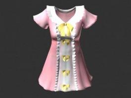 Princess dress 3d preview