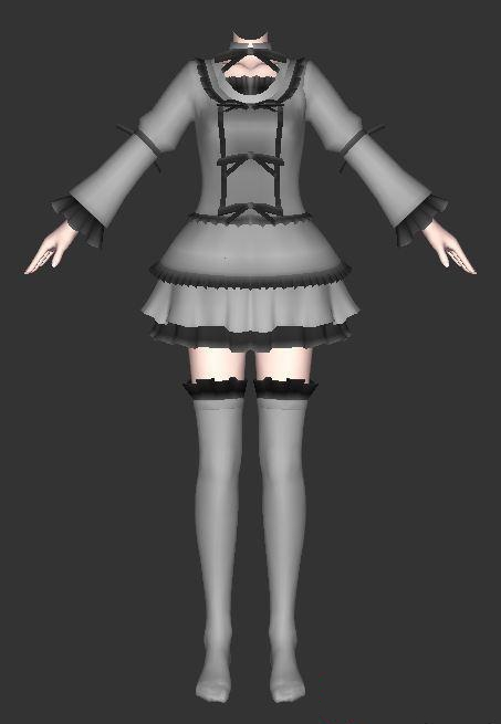 Vintage skirts and stocking 3d rendering