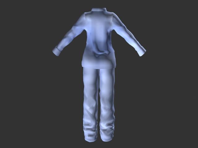 Light blue pajamas 3d rendering