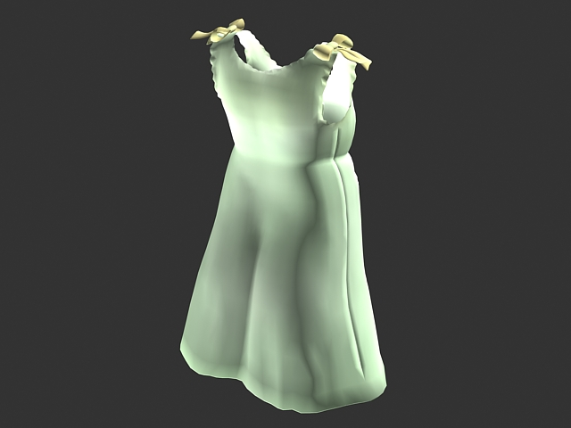 Light green minidress 3d rendering