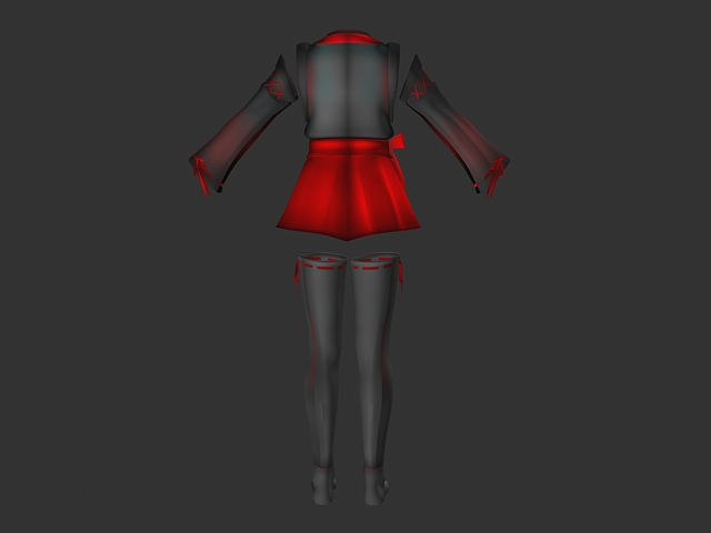 Cute dress with stocking 3d rendering