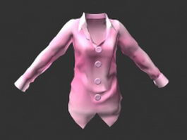 Light pink blouse 3d preview