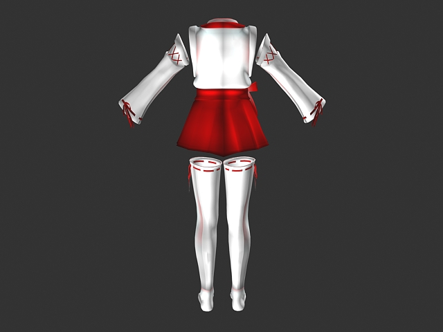 Cute dress outfits 3d rendering