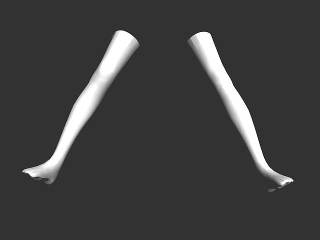 White stocking 3d rendering