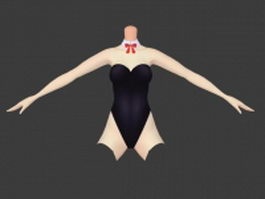 Bunny girl costume 3d preview