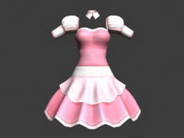 Art anime dress 3d preview
