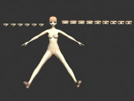 Girl mannequin 3d preview