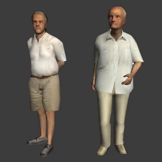 Old Fat Man 3D Model 3Ds Max,Lightwave,Object Files Free -1682