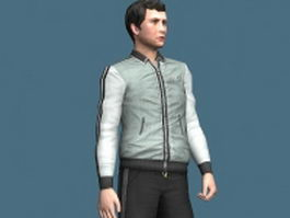 Sportive man rigged 3d preview