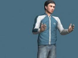 Autumn fashion man rigged 3d preview