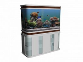 Home aquarium 3d model preview
