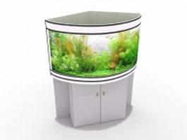 Corner aquarium tank 3d preview