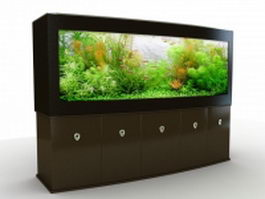 Big aquarium for home 3d preview