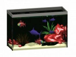 Small aquarium tank 3d model preview