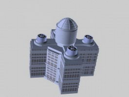 Executive office building 3d preview